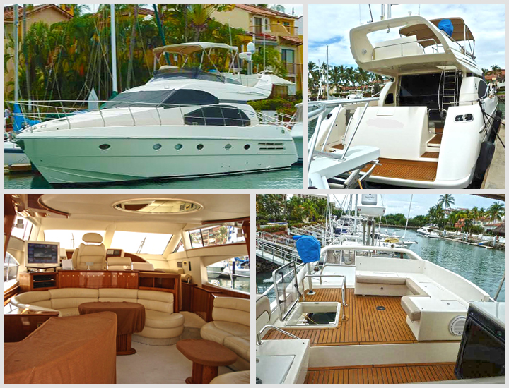 58' Azimut Puerto Vallarta Mexico Yacht Charters and Boat rentals