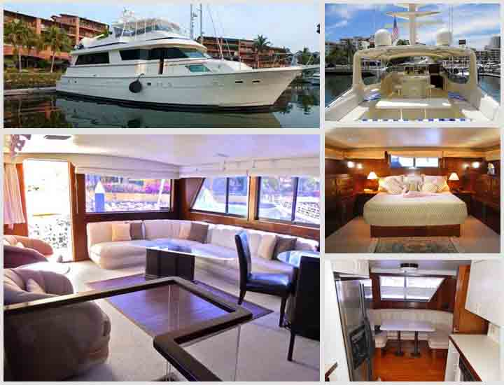 70' Hatteras Yacht Puerto Vallarta Mexico Aycht Charters and Boat rentals