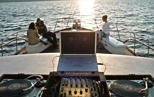 dj on  yacht